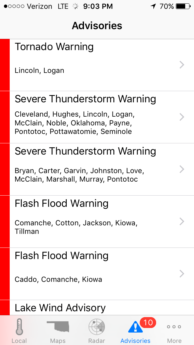 Severe Weather Tool – Text Advisories | Weather and