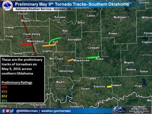 2016-05-12.No 06.Tornado Tracks.May 9 2016.NWS Norman