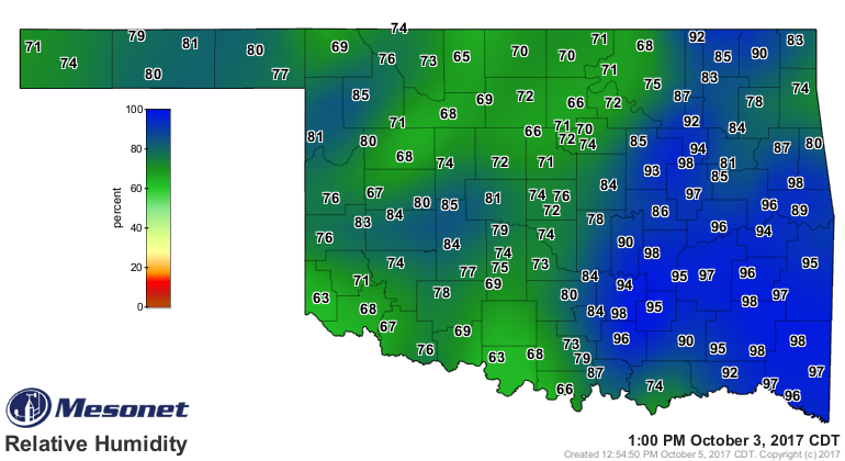Relative Humidity And Dewpoint Weather And Agriculture A Plains - Humidity map